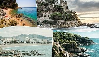 Почивка в лазурния Лорет де Мар, Испания!. 5 нощувки на човек със закуски и вечери + самолетен билет от ТА Холидей БГ Тур