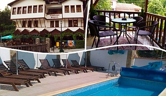 Почивка в Мелник! 3 нощувки със закуски и вечери + открит басейн в Хотел Марио