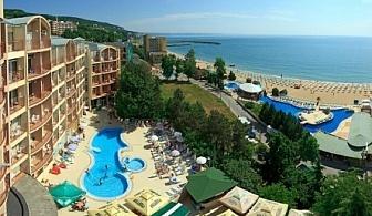 почивка на метри от плажа - хотел Луна **** Златни Пясъци ! Нощувка на база Аll inclusive + вътрешен и външен басейн!!