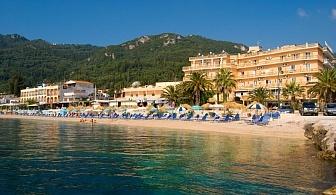 """Почивка на остров Корфу - 7 нощувки със закуски и вечери в Хотел """"Potamaki Beach"""" 3* и директен полет от София, промоционални цени за отпътуване на 01 Юли 2018 год."""