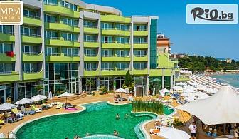 Почивка на първа линия на плажа в Несебър! Нощувка на база Ultra All Inclusive + басейни, шезлонг и чадър, от Хотел МПМ Арсена 4*