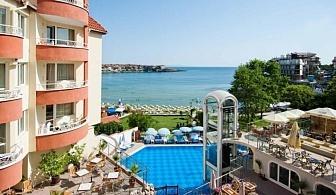 Почивка на първа линия в Созопол - изгодни цени за ВИСОК СЕЗОН в хотел Вила Лист