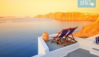 Почивка през септември на остров Санторини - скъпоценният камък на Егейско море! 6 нощувки със закуски, посещение на Атина и транспорт от България Травъл!