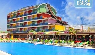 Почивка за Септемврийските празници в Blue Paradise Side Hotel & Spa 4*, Сиде! 7 нощувки на база All Inclusive, ползване на турска баня, басейн, чадър и шезлонг, възможност за транспорт!