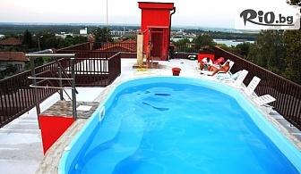 Почивка в Свищов през Септември и Октомври! Нощувка със закуска и вечеря + панорамен басейн с минерална вода, от Семеен хотел Свищов