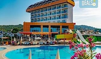 Почивка в Throne Beach Resort & SPA 5*, Сиде! 7 нощувки на база All Inclusive, ползване на басейни и СПА център, фитнес, шезлонг и чадър