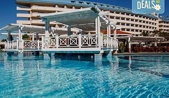 Почивка на Турската ривиера за Майските празници! 7 нощувки на база Ultra All Inclusive в Crystal Admiral Resort Suites & Spa 5*, Сиде, и 2 нощувки със закуски в Истанбул и Бурса, транспорт