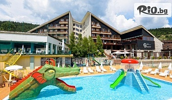 Почивка във Велинград през Август! Нощувка със закуска, обяд и вечеря + вътрешен минерален басейн + АКВАПАРК и Уелнес пакет, от СПА хотел Селект Велинград 4*