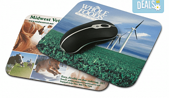 Подарък за Коледа! Подложка за мишка с Ваша снимка и надпис от Офис 2