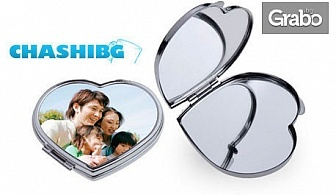Подарък за Свети Валентин или Трифон Зарезан! Магнит, 3 алуминиеви пластини, пъзел или огледалце - с ваша снимка