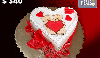 """Подарете уникална бутикова торта """"Романтично сърце"""" на любимия човек! Изберете цвят и вкус по желание! Предплатете сега 1лв!"""