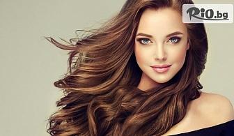 Подстригване + изсушаване и оформяне на косата със сешоар с 54% отстъпка, от Салон Angelica Beauty