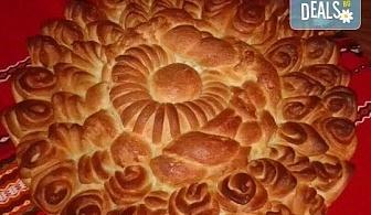 Погача за празници! Голяма обредна погача, или както нашите баби я наричат пита - обреден хляб с орнаменти от Работилница за вкусотии Рави!