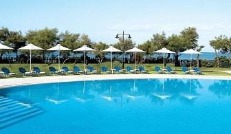 Поглезете се с луксозна почивка през лятото в хотел Grecotel Astir Egnatia 5* за една нощувка със закуска и вечеря,   безплатни чадър и шезлонг на басейна, фитнес и сауна / 03.05.2017 - 12.06.2017