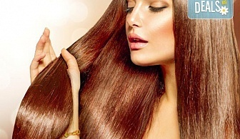 ''Полиране'' на коса, терапия според типа и състоянието й и подстригване и подсушаване в салон Женско царство!
