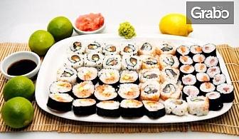 Поръчайте за вкъщи суши сет с 40, 60 или 86 хапки