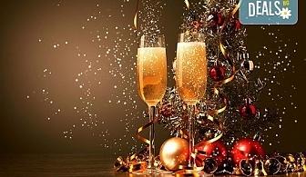 Посрещнете Нова година с веселба и танци в центъра на Банско! Богато меню със салата, предястие, основно ястия, напитки и жива музика!