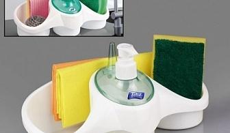 Поставка за кухня с диспенсър за сапун