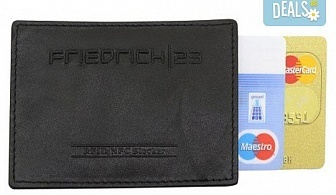 Практично и сигурно! Калъф от естествена кожа с RFID защита за безконтактни кредитни карти