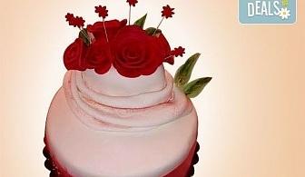 Празнична торта с пъстри цветя, дизайн на Сладкарница Джорджо Джани