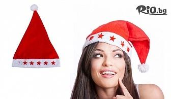 Празнично настроение! Коледна шапка със светещи звездички, от Svito Shop