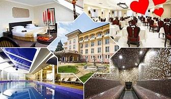 Празник на виното и любовта в СПА хотел Стримон Гардън*****, Кюстендил! 2 нощувки за ДВАМА със закуски и вечери, една романтична с DJ парти + басейн и СПА с минерална вода
