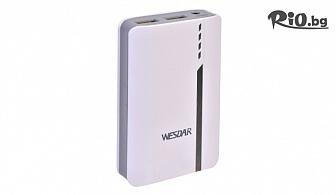 Преносимо зарядно за смартфони, таблети, MP3 плеъри и други мобилни или дигитални устройства /4500 mAh/, от Hipo.bg