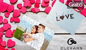 """Преспапие или пъзел с ваша снимка, кутийка с папируси """"Обичам те""""на 100 езика или с игра """"52 седмици любов"""""""