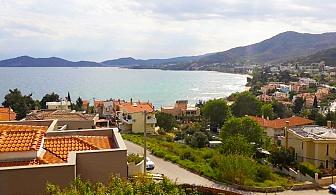 През Август в Гърция, близо до плажа. 3, 5 или 7 нощувки със закуски и вечери в апартамент с гледка море от апартхотел Елена, Кавала