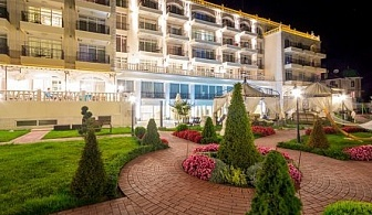 През май в хотел на морето - ТЕРМА ПАЛАС *****, КРАНЕВО! All Inclusive почивка на специални цени + ползване на топъл вътрешен басейн и спа център + първо дете до 10г. безплатно!