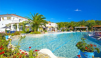 През септември 4-звездна почивка в Палиури, Халкидики! Нощувка на база All inclusive + 2 басейна в комплекс Chrousso Village