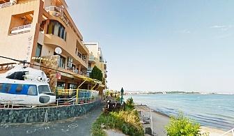 През Юни на първа линия в Равда. 7 нощувки в стая с изглед море със закуски и вечери на човек в семеен хотел Блян