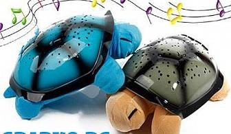 Придайте вълшебна атмосфера в стаята на Вашето дете с Музикална лампа - костенурка само за 16.90 лв. от Grabko.bg