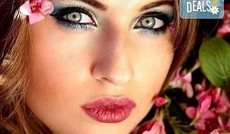 Професионален грим по избор - дневен, вечерен, сватбен на адрес на клиента и бонус поставяне на мигли, Makeup Nails and Lashes by Katerina Nik