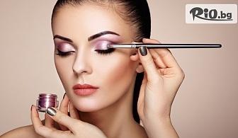 Професионален грим с козметика Lollipop - дневен, вечерен, опушен + прическа по избор, от Салон за красота Madonna