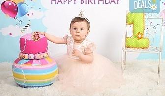 Професионална студийна фотосесия за деца с красиви декори и аксесоари за рожден ден от GALLIANO PHOTHOGRAPHY