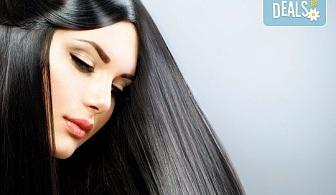 Професионална терапия за изтощени коси с KEUNE, серия CARE, ампула с ултразвук и инфрачервена преса и оформяне на прическа със сешоар в Салон Incanto dream!