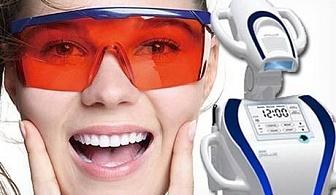Професионално избелване на зъби с иновативната LED лампа робот BEYOND POLUS + обстоен преглед, почистване на зъбен камък и полиране с AIR FLOW от Дентална клиника Персенк - д-р Надя Станчева