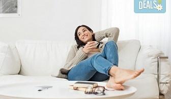 Професионално машинно изпиране и подсушаване на 6 седящи места на диван + 4 тапицирани стола от почистване КИМИ!