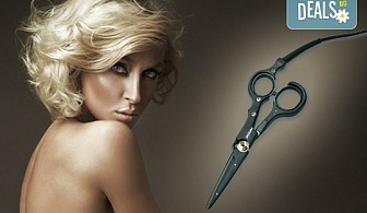Професионално подстригване с гореща ножица и подсушаване от салон Flowers 2 в Хаджи Димитър!