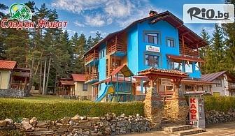 Пролетна почивка в Цигов чарк! 2 нощувки за двама с изглед към язовир Батак, от Семеен хотел Сладък живот