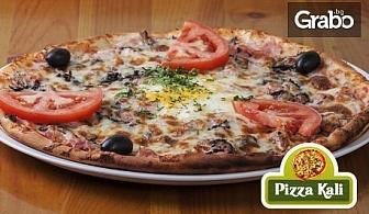 Ръчно направена пица по избор от висококачествени италиански продукти