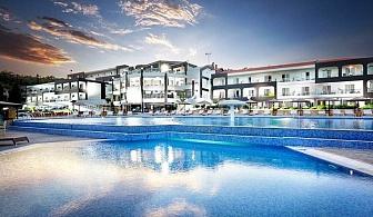 Ранни записвания за лято 2020 на 1-ва линия на о. Тасос! Нощувка, закуска и вечеря + басейни на човек в хотел Blue Dream Palace****