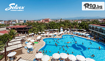 Ранни записвания за Майски празници и море в Анталия, Турция! 7 All Inclusive нощувки в Хотел Sultan of Side + шезлонг, чадър на плажа и самолетен билет, от Солвекс