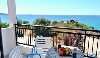 Ранни записвания за море в Гърция 2020г.! Нощувка в двойна, тройна, четворна или фамилна стая на 100 метра от плажа в Studios Voulis в Лименария, о. Тасос