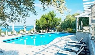Ранни записвания за море в Гърция 2020г.! Нощувка на човек със закуска и вечеря + басейн от хотел Natassa***, Скала Потамия, о. Тасос