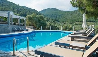 Ранни записвания за море в Гърция 2020г.! Нощувка в двойна супериор стая на човек със закуска и вечеря + басейн от хотел Natassa***, Скала Потамия, о. Тасос