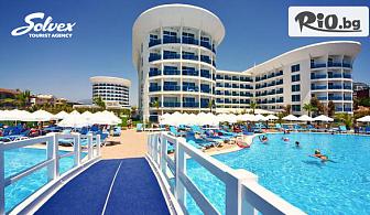 Ранни записвания за море в Сиде, Анталия на първа линия на плажа! 7 Ultra All Inclusive нощувки в Хотел Sultan of Dreams + шезлонг, чадър на плажа и самолетен билет, от Солвекс