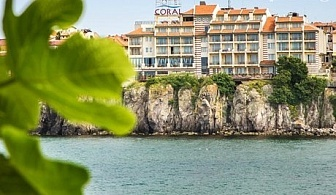 Ранни записвания за море в Созопол! Нощувки на човек със закуска и вечеря + басейн в хотел Корал - на метри от морето