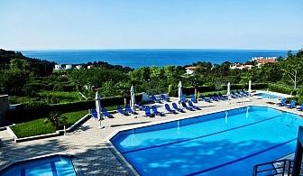 Ранни записвания за море 2020 в ТОП СЕЗОН в Гърция! Нощувка на човек на база All inclusive + басейн и трансфер до плажа в Olympus Thea Hotel, край Платамон, Гърция
